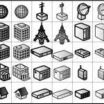 交通・建物関連アイコン イラストレータデータ 亞流