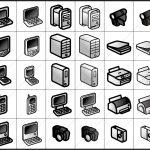 コンピュータ アイコン イラストレータデータ 亞流