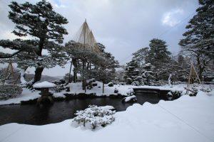 兼六園 雪景色 庭園 写真