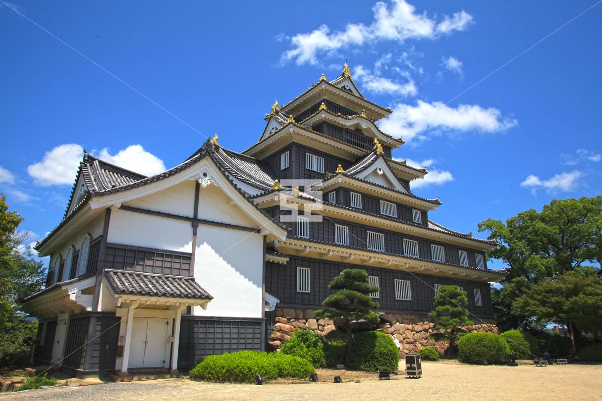 青空の岡山城
