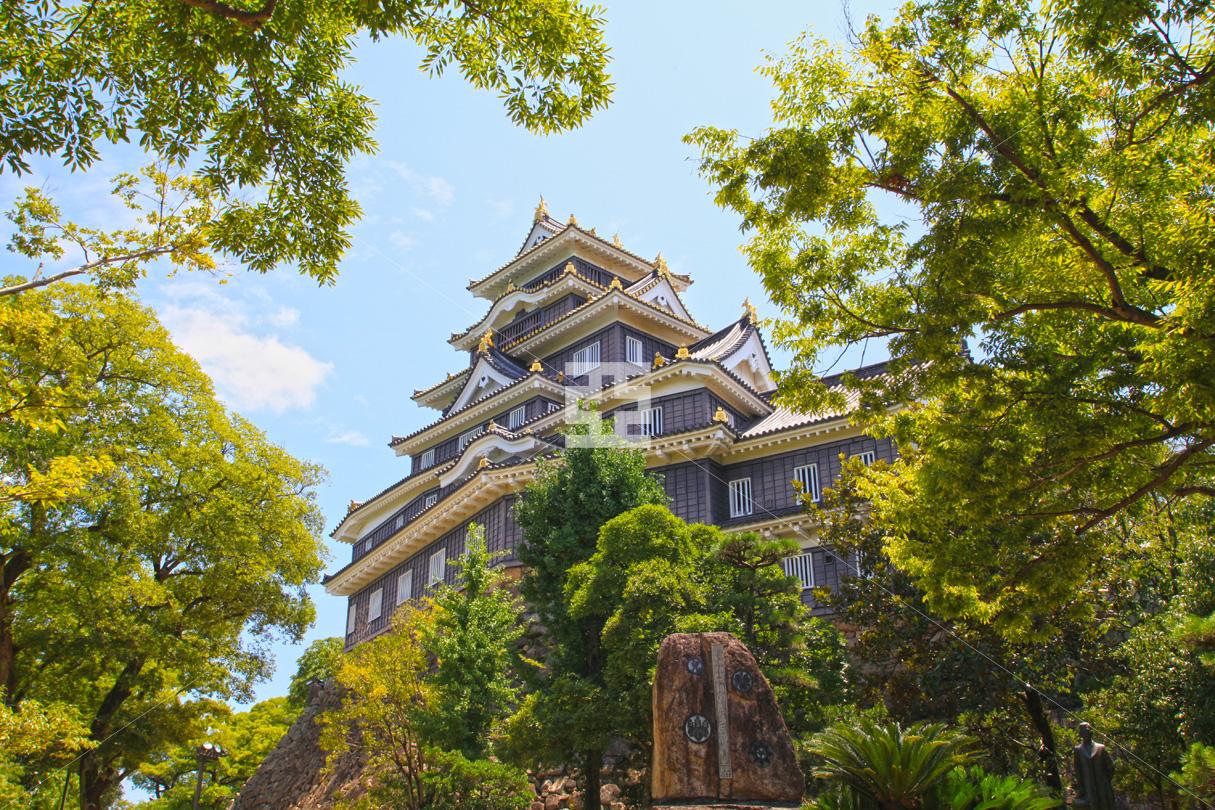 岡山城は晴れ