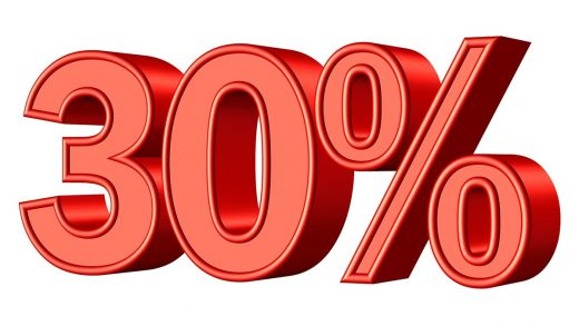30%割引